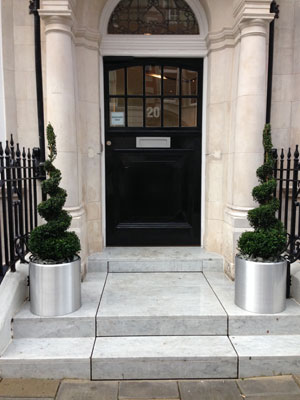 Office Entrance After - with Planters